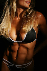 Woman toned body